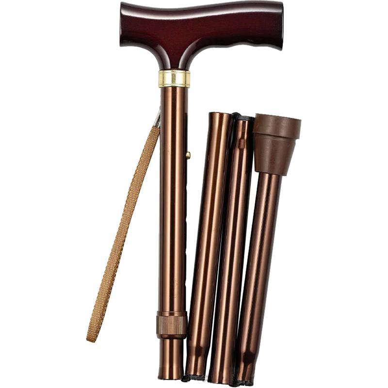 Купить Трость складная телескопическая 10121 хром, Valentine International, алюминиевый сплав