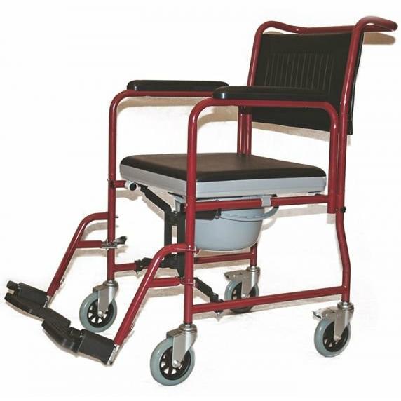 Купить Кресло-каталка с санитарным оснащением Titan LY-800-690 красная, Titan Deutschland GmbH