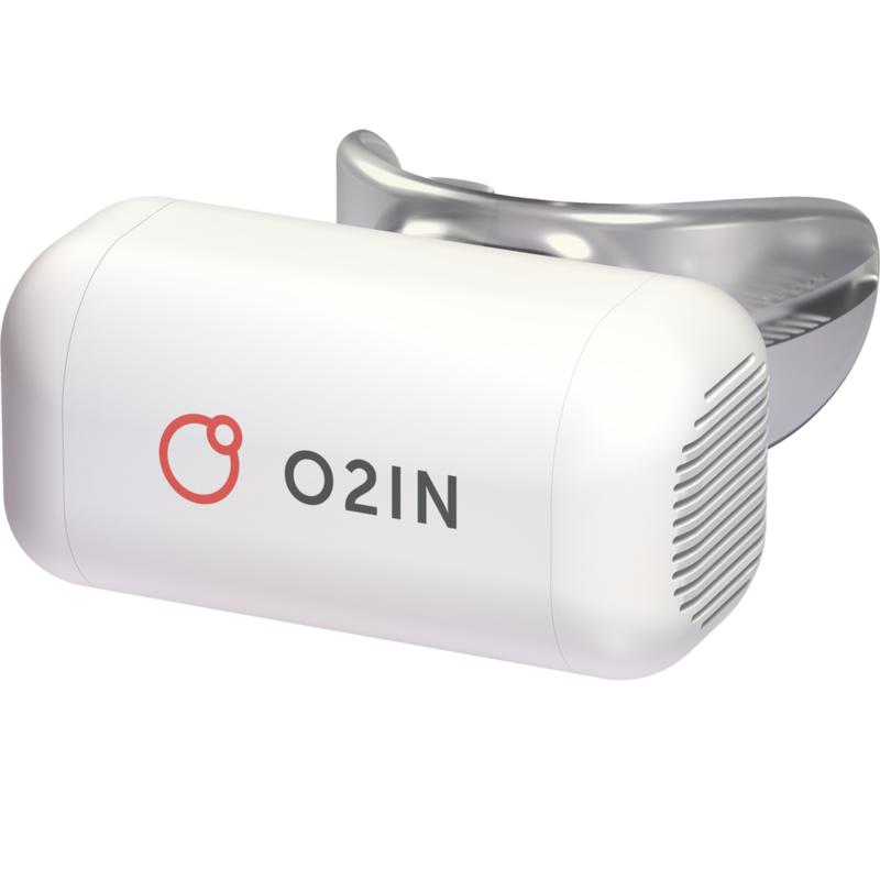Купить Дыхательный тренажер O2IN Basic Breath тренажер + белый чехол, медицинский пластик и силикон