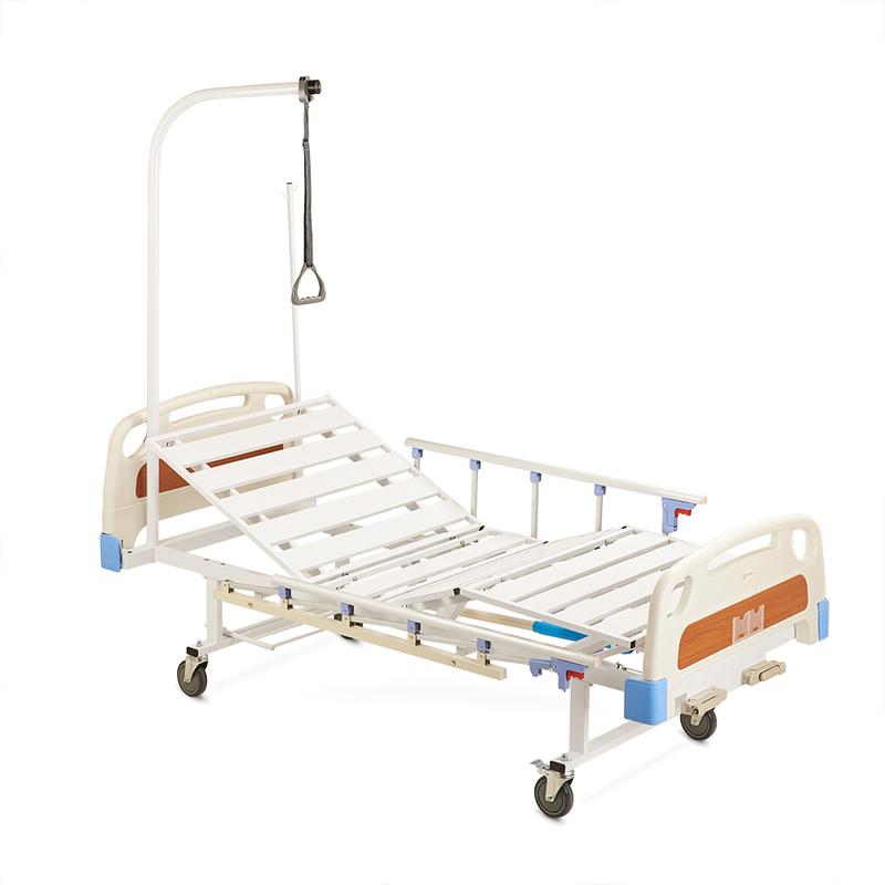 Купить Кровать медицинская функциональная механическая РС105-Б, АРМЕД (Россия), сталь, пластик