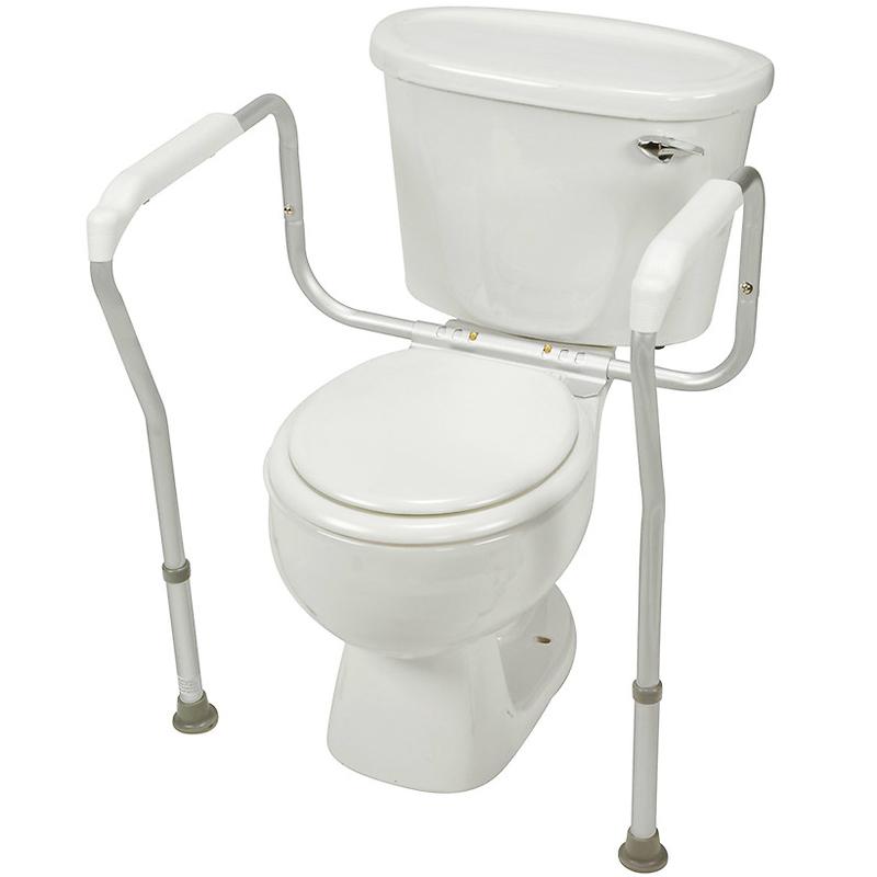 Купить Опорный поручень для туалета Мега-Оптим SC7055B, серебрянный, алюминиевый сплав, пластик