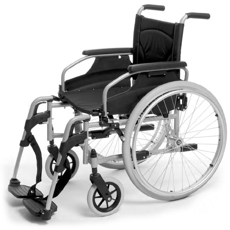 Купить Кресло-коляска для инвалидов механическая Vermeiren V100, сталь, нейлон