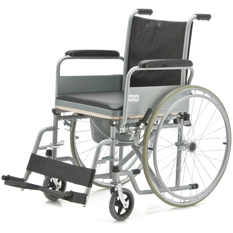 Купить Кресло-коляска с санитарным оснащением Армед FS682, АРМЕД (Китай), черный