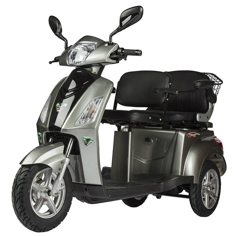 Купить Электрический скутер для пожилых людей и инвалидов Volteco Trike L New (двухместный) с АКБ 60V 32Ah (литиевый)
