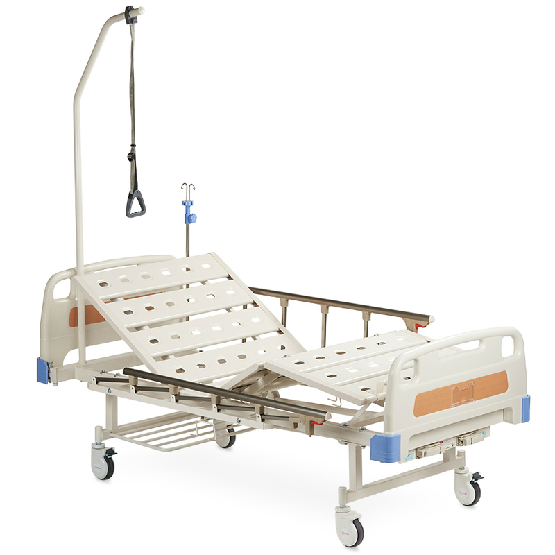 Купить Медицинская механическая кровать Армед SAE-3031, АРМЕД (Китай), каркас и ножки - высокопрочная сталь, металлические боковые ограждения, спинки - ABC пластик