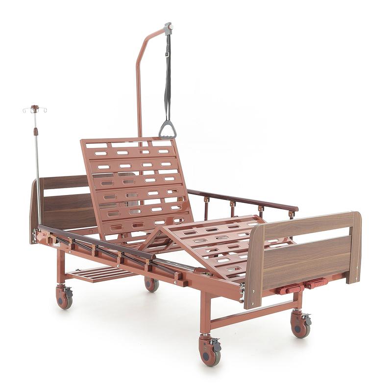 Купить Медицинская механическая кровать Med-Mos Е-8 (MM-2014-Н0/Д0) ЛДСП, сталь, ЛДСП
