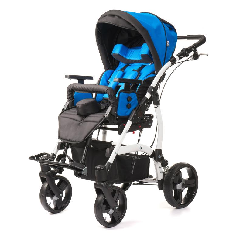 Купить Кресло-коляска прогулочная для детей с ДЦП Vitea Care Junior Plus (new edition) зелёная / пневмо колеса