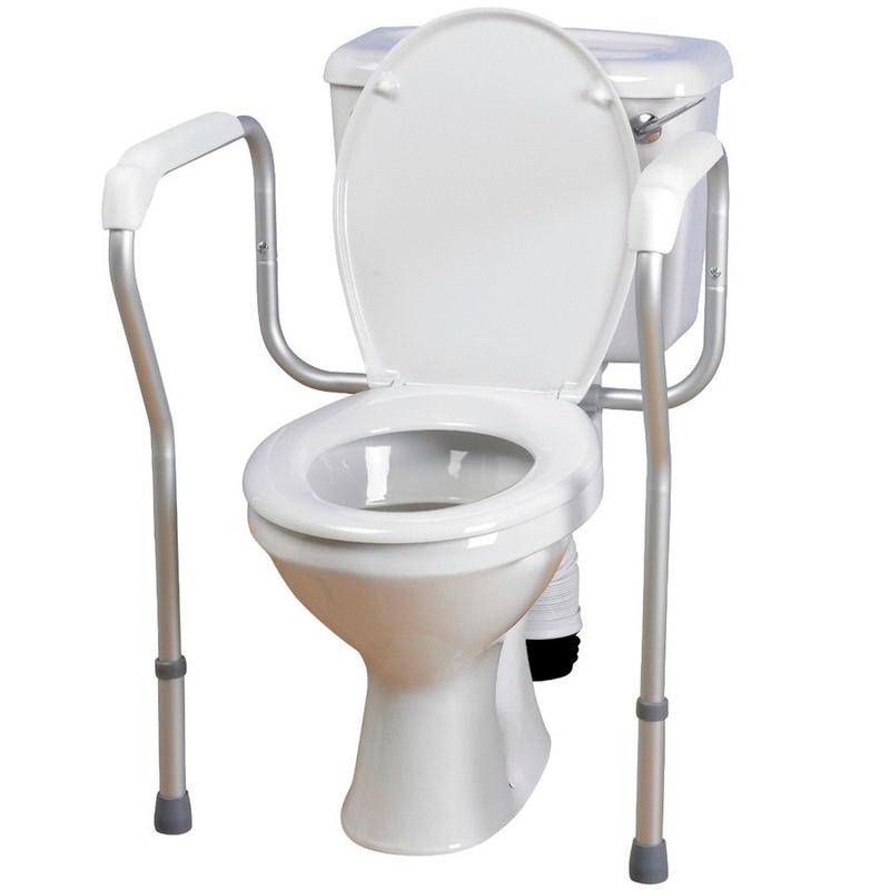 Опорный поручень для туалета Мега-Оптим RPM67030, серебристый, алюминий  - купить со скидкой